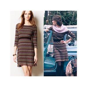 Anthropologie Sparrow Wool Striped Clara Dress